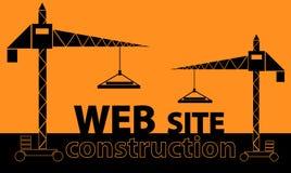 Webbplatskonstruktion Arkivbild