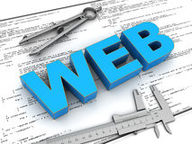 Webbplatskonstruktion Royaltyfri Fotografi