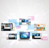 Webbsidadesignbegrepp Royaltyfri Bild