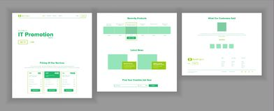 Webbsidadesignvektor Websiteaffärsskärm Internettrafik Landningmall affärsidé isolerad framgångswhite Pengarplanläggning stock illustrationer