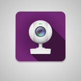 Webcam του άσπρου πλαστικού Στοκ Εικόνες
