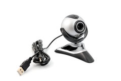 Webcam. Modern webcamera on a white background Royalty Free Stock Image
