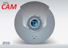 Webcam. Close-up of a single webcam.vector eps10 Stock Photos