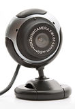 Webcam. Web cam black on a white background Royalty Free Stock Image