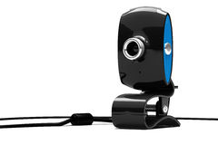 Webcam, 3d. Webcam on  white background Stock Photography