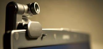 Webcam auf Bildschirm B Lizenzfreie Stockbilder