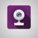 Webcam av vit plast- Arkivfoto