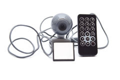 Webcam with Card Medium and Remote Control Stock Image