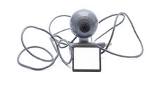 Webcam with Card Medium Royalty Free Stock Photography