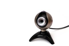 Webcam con collegare Fotografia Stock Libera da Diritti