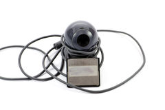 Webcam con el cable Imagen de archivo