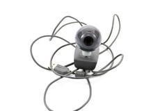 Webcam con el cable Imagen de archivo libre de regalías