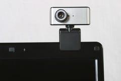 Webcam en el cuaderno Fotografía de archivo