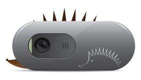 Webcam. With hedgehog. Illustration on white background, eps 8 Royalty Free Stock Images