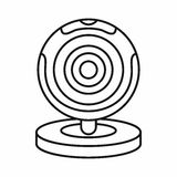 Webcam icon, outline style. Webcam icon in outline style isolated vector illustration Royalty Free Stock Photos