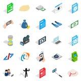 Webcam icons set, isometric style. Webcam icons set. Isometric set of 25 webcam vector icons for web isolated on white background Stock Images