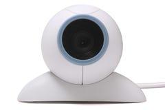 Webcam isolated on white background. Grey plastic webcam isolated on white background Stock Photo