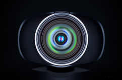 Webcam lens with coloured reflections Stock Photography
