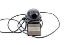 Webcam med kabel Fotografering för Bildbyråer