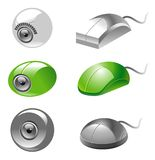 Webcam and mice icons Stock Photography