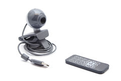 Webcam with Remote Control Stock Photo