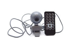 Webcam with Remote Control Royalty Free Stock Photos