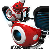 Webcam Robot Close Up Pose Royalty Free Stock Photos