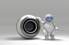 Webcam and  robot Royalty Free Stock Photo