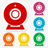 Webcam sign icon set Royalty Free Stock Photo