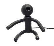 Webcam som en man Arkivfoto