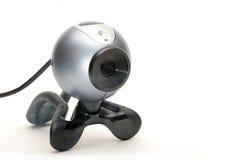 Webcam sopra bianco Fotografia Stock
