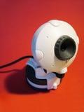 Webcam su colore rosso Immagini Stock Libere da Diritti