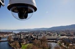 Webcam van rijk Toerisme ZÃ ¼ van het dak van het Mariott-Hotel royalty-vrije stock foto's