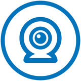 Webcam vector icon. Vector illustration on white background Royalty Free Stock Image