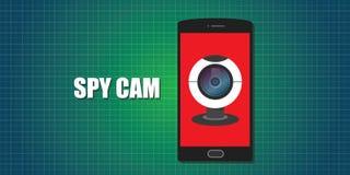 Webcam web cam phone smartphone  spy Royalty Free Stock Photo