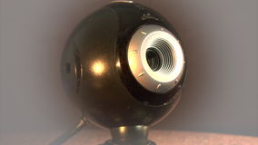 Webcamera. The close-up rotation of web camera