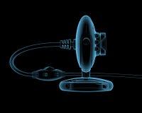 Webcamera (transparentes azules de la radiografía 3D) Fotografía de archivo libre de regalías