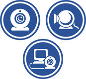 Webcams - Vector icons Stock Photos