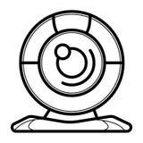 Webcamsymbolsvektor stock illustrationer
