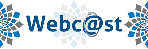 Webcast Blue Grey Square Elements Stock Image
