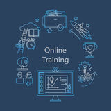 Webcast, E-learning and Online Event Outline Icon Stock Photo