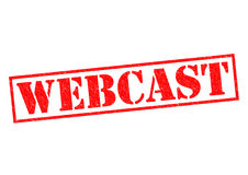 WEBCAST. Red Rubber Stamp over a white background Royalty Free Stock Image