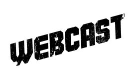 Webcast rubber stamp. Grunge design with dust scratches. Effects can be easily removed for a clean, crisp look. Color is easily changed Royalty Free Stock Photo