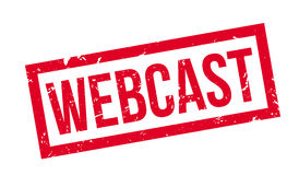 Webcast rubber stamp Stock Photo