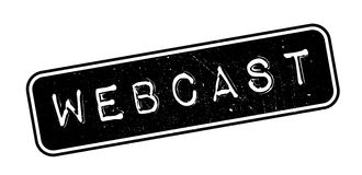 Webcast rubber stamp Royalty Free Stock Images