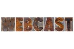 Webcast słowo w drewnianym typ Obraz Royalty Free