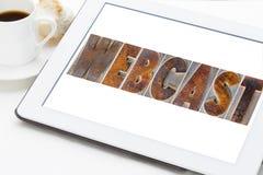 Webcast słowo na cyfrowej pastylce Obrazy Stock