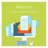 Webcontact en bedrijfsbulletin Stock Fotografie