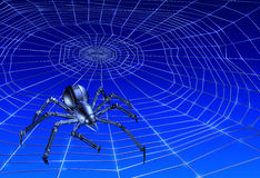Webcrawling CyberSpider Royalty Free Stock Photography