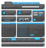 webdesign набора элементов Стоковое Фото